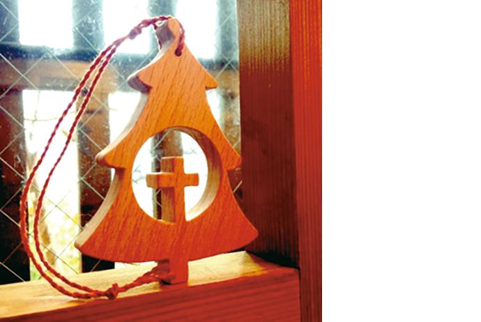松ワークスの木工オーナメント