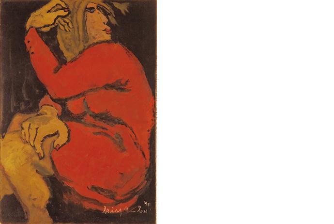 熊谷喜代治 「赤い服の女」