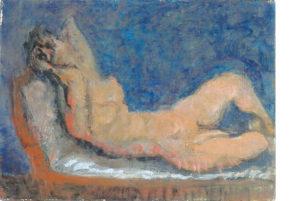 熊谷喜代治「横たわれる裸婦」」