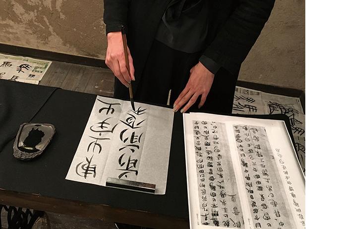 華雪による書と篆刻の講座 201910-11